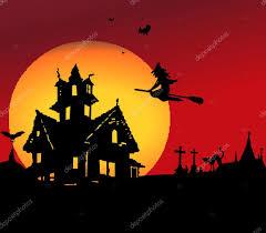 Halloween Vector Graphics Halloween Night Scene Silhouette U2014 Stock Vector Tinica 12585105