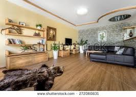 wooden furniture for kitchen beautiful living room architecture stock images stock photo