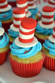 dr seuss cupcakes cat in the hat cookies birthdays and cat