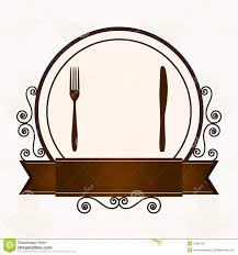 luxury menu with cutlery stock photo image 31886150