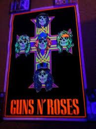 large black light posters felt black light poster 1988 guns and roses appetite for