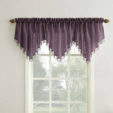 Solid Color Valances For Windows Purple Valances U0026 Kitchen Curtains You U0027ll Love Wayfair