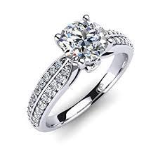 bagues de fian ailles moncoeur bague de fiançailles anneau de mariage solitaire pavé