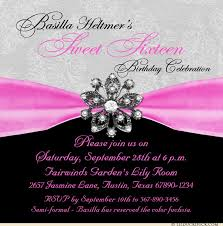 sweet sixteenth celebration invitation lovely 16