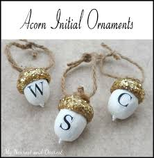 diy personalised acorn ornaments my nearest and dearest