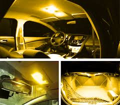 Lights For Car Interior 10 Amber Car Interior 48smd Led Bulb Lamp Light Panel T10 Dome
