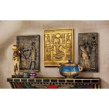 amazon com design toscano egyptian temple stele tutankhamen isis amazon com design toscano egyptian temple stele tutankhamen isis and horus plaque home kitchen