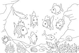 of fish for kids coloring page free download