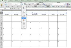 Making Excel Spreadsheet Make A 2017 Calendar In Excel Includes Free Template