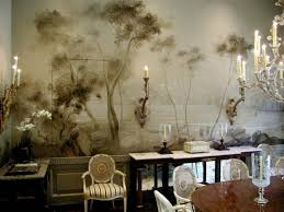 dining room wall murals dining room with inset mural panels