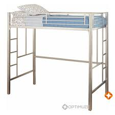 Twin Loft Bed Ladder Metal Frame Bunkbed Kids Teens Bedroom Dorm - Metal bunk bed ladder