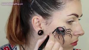 3d realistic spider makeup face paint tutorial halloween makeup