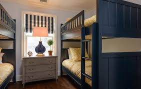 Navy Bunk Beds With Orange Bedding Contemporary Boys Room - Navy bunk beds