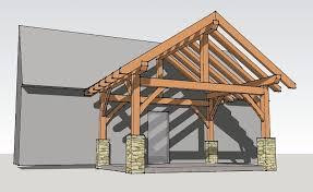 a frame roof design 12x16 timber frame porch