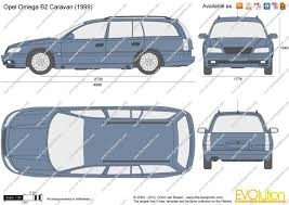 opel omega 2003 the blueprints com vector drawing opel omega b2 caravan