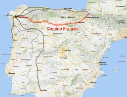 Camino Frances Map by