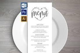 Wedding Menu Template Wedding Menu Template Wpc2 Invitation Templates Creative Market