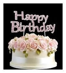 happy birthday cake topper rhinestone birthday cake topper number pink happy birthday