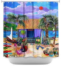 Shower Curtains Unique Shower Curtain Unique From Dianoche Designs Island Time