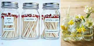 vintage wedding favors jars as wedding guest favors