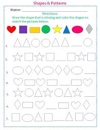 colours shapes worksheets color and cut students learn recognize