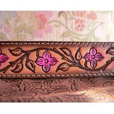 floral belt kids name belts and buckles kids personalized leather belt pink f