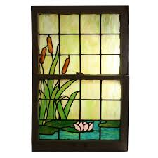 antique stained glass doors for sale remarkable antique stained glass window with water lily u0026 cattails