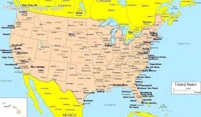 map of america showing states and cities usa canada map with states and cities major tourist attractions maps