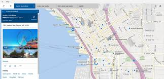 Seattle International Airport Map by New Features In Windows 10 Maps App Windows Experience