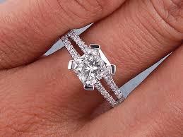 radiant cut engagement ring 1 50 ctw radiant cut diamond engagement ring h si1