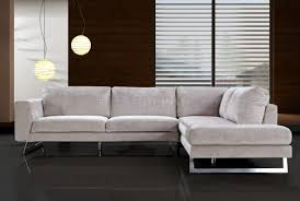 sofas with metal legs beige microfiber modern sectional sofa w chrome metal legs