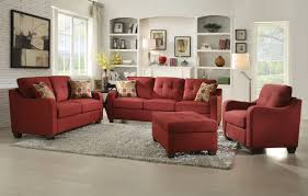 Red Sofa In Living Room by Cleavon Ii Red Sofa And Loveseat 53560