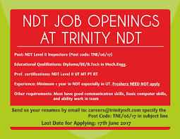 Testing Resume For 1 Year Experience Ndt Training Certification Courses Institute Chennai Tamilnadu