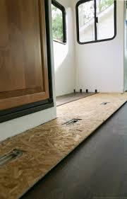 How To Lay Laminate Hardwood Flooring Tips To Replace The Flooring Inside A Rv Slide Out