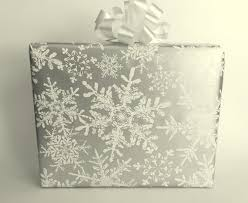silver christmas wrapping paper metallic silver and white snowflakes christmas wrapping paper