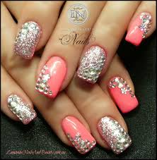 pink nail designs with rhinestones another heaven nails design