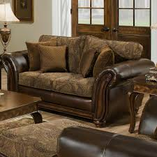 simmons upholstery 8104 queen leather and chenille hide a bed sofa