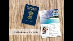 passport invitations airline tickets and luggage tag save the