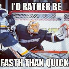 Hockey Goalie Memes - this goalie and this meme is catching on with ducks fans fast