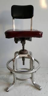rare goodform adjustable aluminum drafting stool industrial