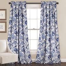 Overstock Curtains Cynthia Jacobean Room Darkening Window Curtain Set Lush Decor