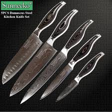 compare prices on damascus steel kitchen knife set online