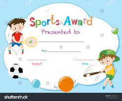 100 sports award templates doc593384 first place award