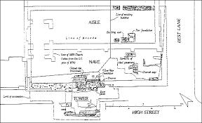 All Saints Church Floor Plans by Canterbury Archaeological Trust All S Church