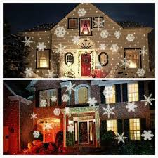 christmas laser lights white snowflake projector waterproof outdoor christmas lights led