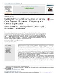 carotid ultrasound report template incidental thyroid abnormalities on carotid color doppler