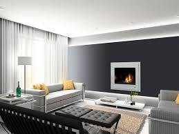 Grey Living Room Walls by Interior Contempo Modern Black And White Living Room Decoration