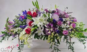 how to make a casket spray casket sprays funeral flowers from cherry blossoms florist