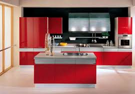 red kitchen preferred home design