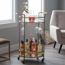 belham living olivia round bar cart hayneedle